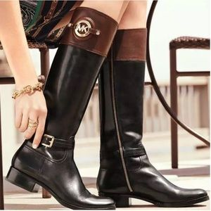 Michael Kors Two Toned Tall Riding Boots